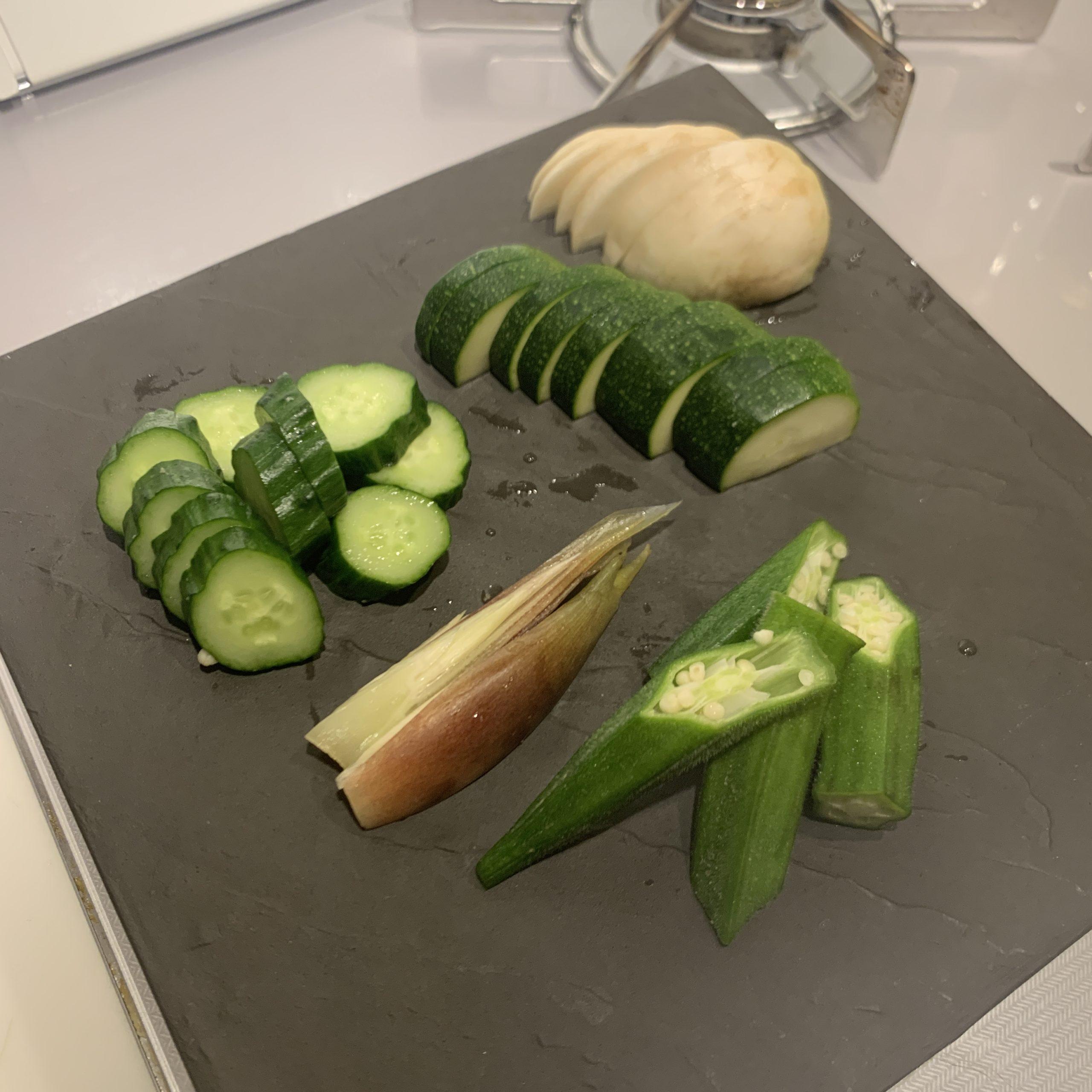 オリーブぬか床で夏野菜を漬けたら、美味しかった!