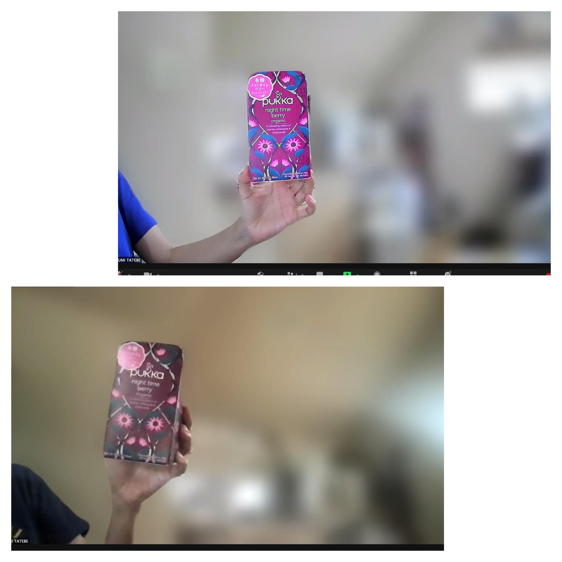 ウェブカメラとMACのカメラの比較
